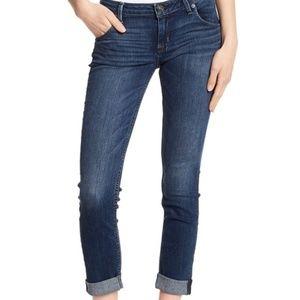 Hudson Cuffed, Cropped Skinny Jeans
